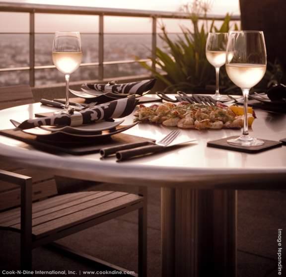 Teppanyaki grill table