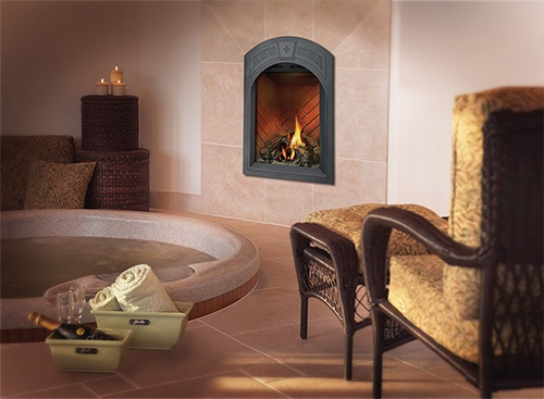 Napolean Fireplaces in bathroon