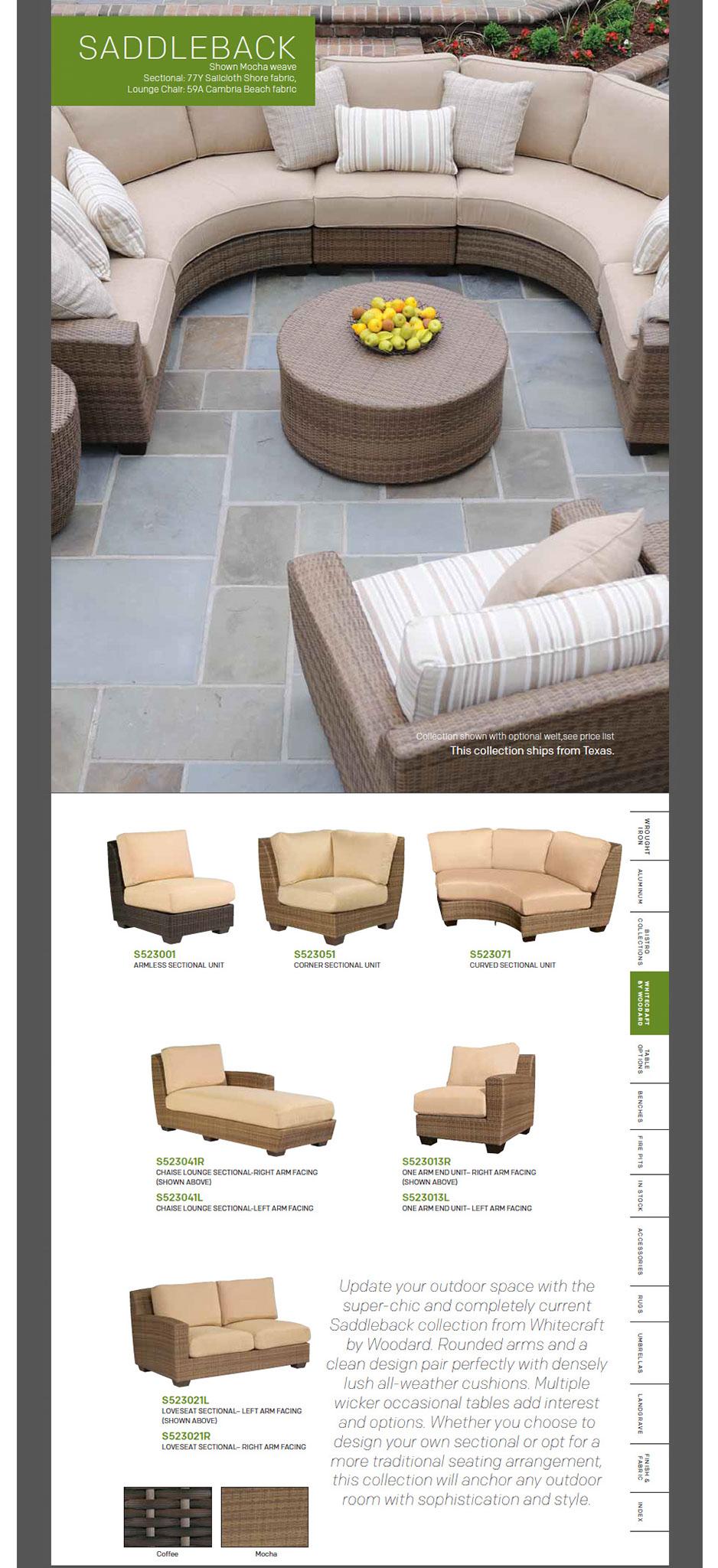 Saddleback Outdoor Patio Furniture