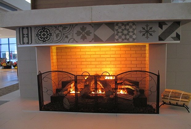 Electric logs for a fireplace at Casual Creations