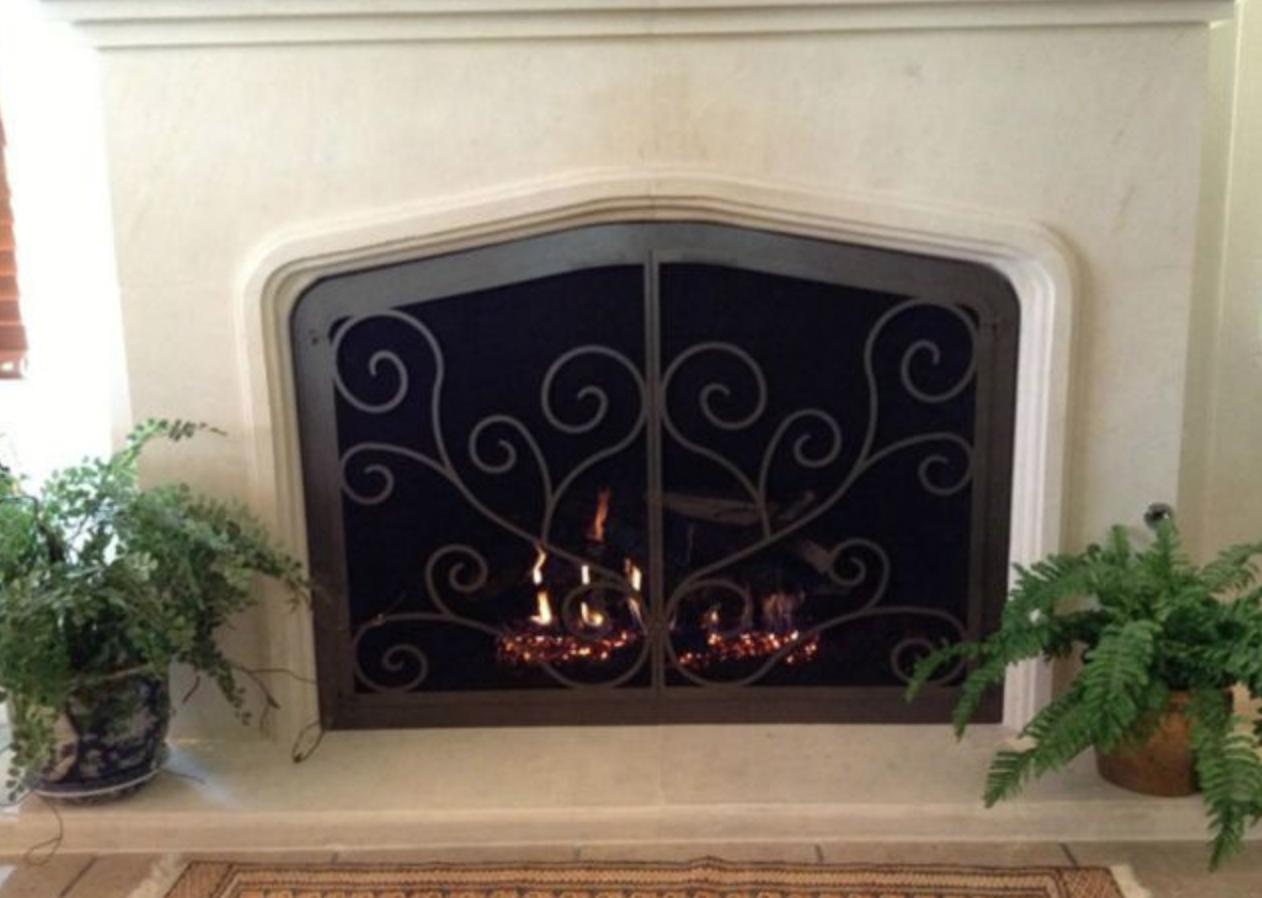 Stoll Iron Fireplace Door