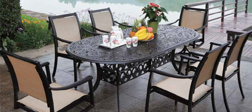 Woven vinyl outdoor furniture low maintenance patio for Low maintenance outdoor furniture