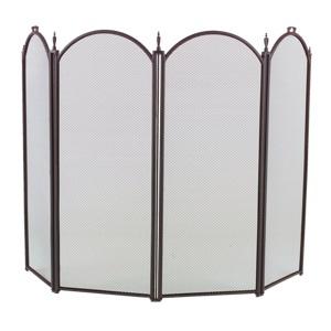 4 Fold Fireplace Screens