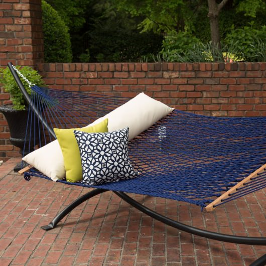 Rope Hammock on Metal Stand