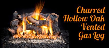 Hollow Oak Vented Gas Log