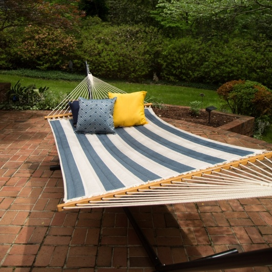 Quilted Hammock on Metal Stand