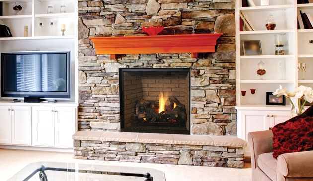 Gas Fireplace at Casual Creations