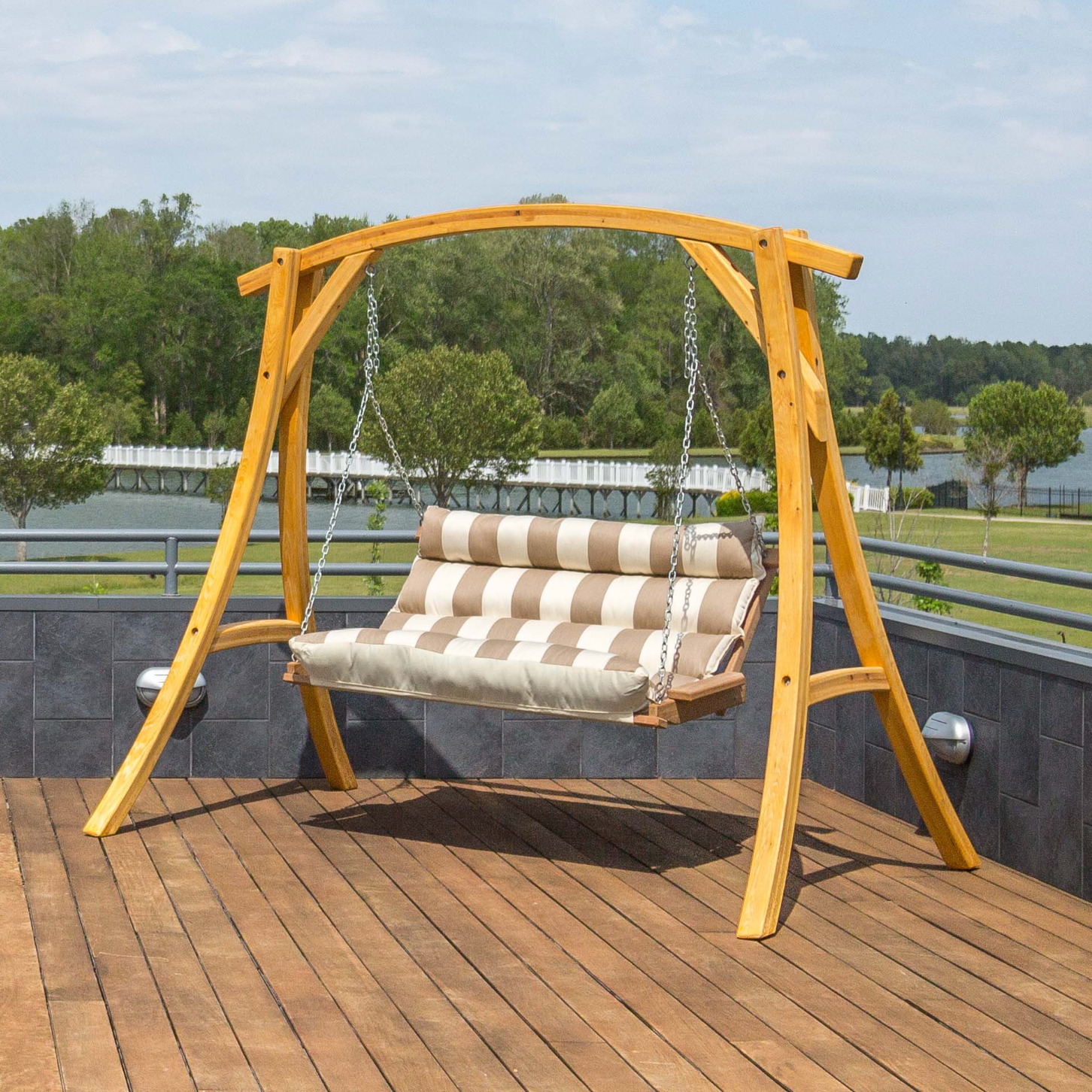 Double Tufted Outdoor Hammock