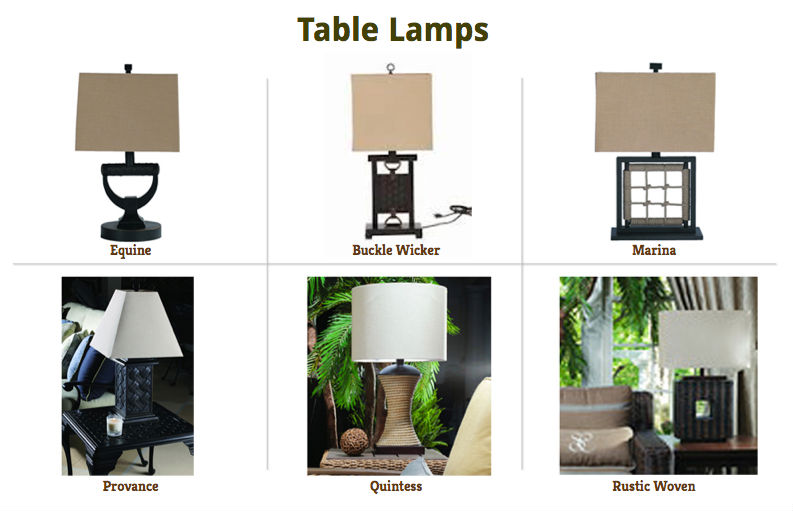 Assortment Table Lamps