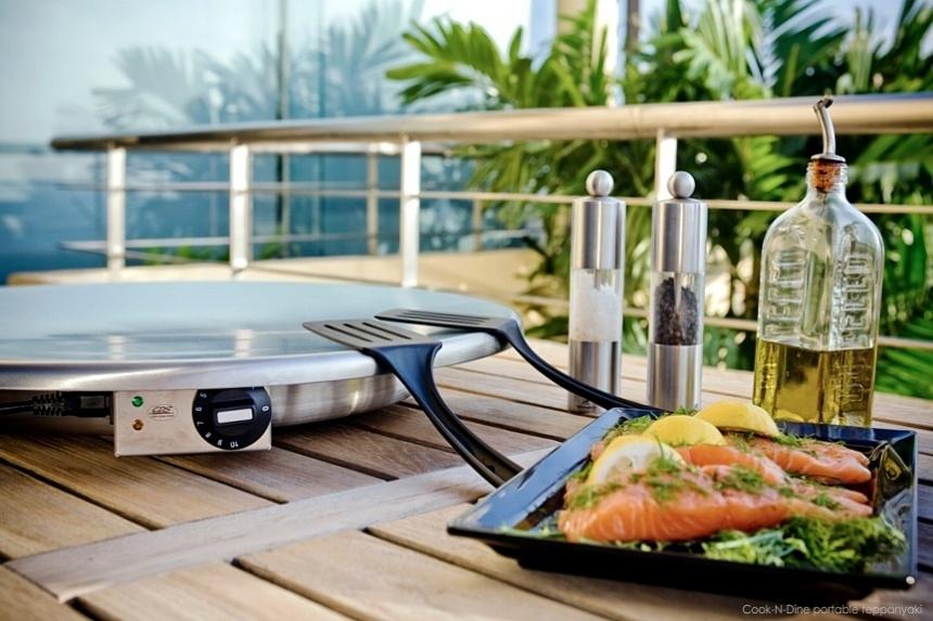 teppanyaki portable round top