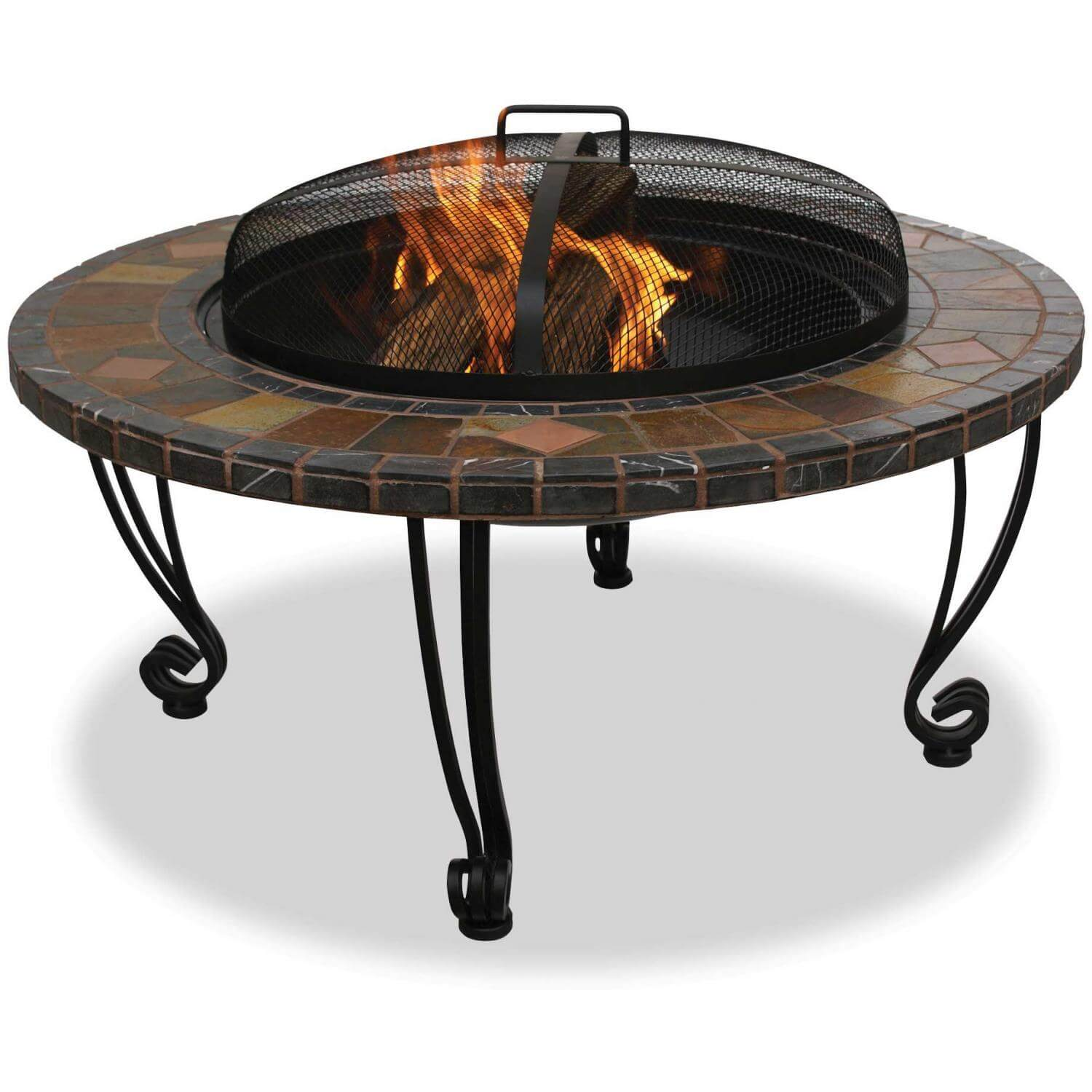 Uniflame Woodburning Fit Pit at Casual Creations